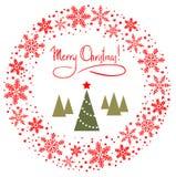 Roter WeihnachtsWreath Stockfotografie
