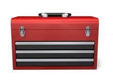 Roter Werkzeugkasten Stockfoto