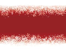 Roter Winterhintergrund Lizenzfreies Stockbild