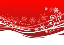 Roter Winterhintergrund Stockfotografie