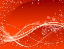 Roter Winterhintergrund Lizenzfreies Stockfoto