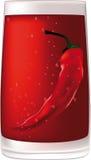 Roter Wodka mit Pfeffer Lizenzfreie Stockfotos