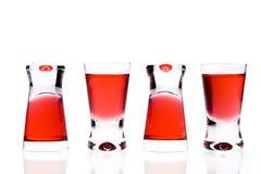 Roter Wodkatrick stockbilder