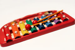 Roter Xylophone lizenzfreies stockfoto