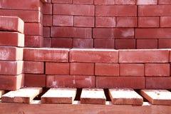 Roter Ziegelstein. Stockfotos
