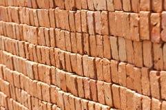 Roter Ziegelstein. Stockfotografie