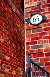 Roter Ziegelstein-Details lizenzfreie stockfotografie