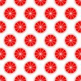 Roter Zitrusfruchthintergrund der frischen saftigen Pampelmuse des Schnittes schellt in der Reihe neben einander und abwechselnd  vektor abbildung