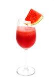 - Rotera den röda fruktsaftvattenmelon Fotografering för Bildbyråer