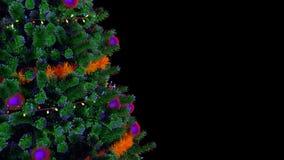 Roterande ögla för julgran lager videofilmer