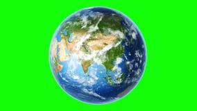 Roterande ?gla f?r realistisk jord p? Greenscreen 4K royaltyfri illustrationer