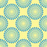 Roterande blått ringer den sömlösa modellen för den optiska illusionen Royaltyfri Bild