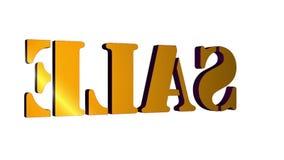roterande bokst?ver Sale f?r text 3D Inskrift f?r r?relseaffischer, baner Tillg?ngligt i HD-videomaterial royaltyfri illustrationer