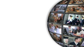 Roterande bollvisningstudenter lager videofilmer