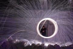 Roterande brand Arkivfoto