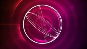 Roterande cirklar på en bakgrund för klarteckeneffekter