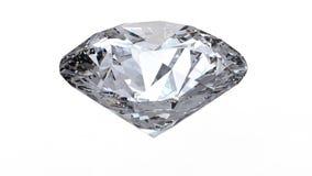 Roterande diamantögla på vit bakgrund lager videofilmer