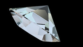 Roterande diamant 4k arkivfilmer
