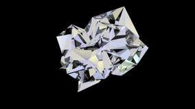 Roterande diamantkristall royaltyfri illustrationer