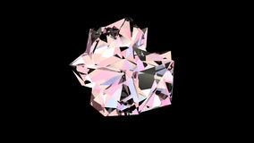 Roterande diamantkristall stock video