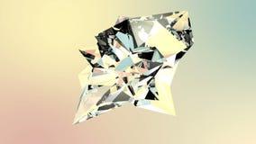 Roterande diamantkristall vektor illustrationer