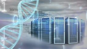 Roterande DNA med stora data mot dataserveren