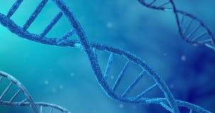 Roterande DNAsyntes och replikationmolekylprocess in vitro Begrepp av CRISPR-bioteknik och Bioengineering arkivfilmer