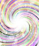 Roterande färgradialstrålar Royaltyfria Bilder