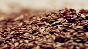 Roterande flaxseeds lager videofilmer