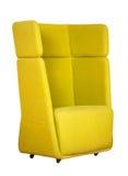 Roterande gul kontorsstol Arkivbild