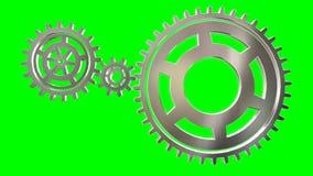 Roterande kugghjulögla för isolat stock illustrationer