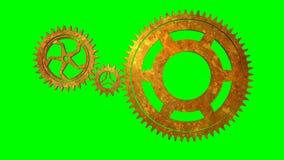 Roterande kugghjulögla för isolat vektor illustrationer