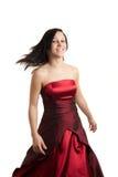 roterande kvinnabarn för klänning royaltyfri fotografi
