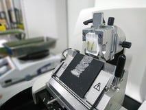 Roterande Microtomeavsnitt arkivfoto