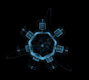 Roterande motor vektor illustrationer