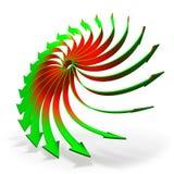 Roterande pilbegrepp vektor illustrationer