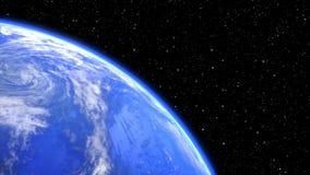 Roterande planetjord i utrymmecloseup sömlös ögla - 3D framför stock video
