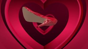 Roterande sko för hög häl mot livliga hjärtor