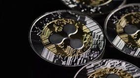 Roterande skott av Bitcoins den digitala cryptocurrencyen stock video