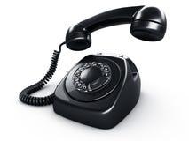 roterande svart telefon stock illustrationer