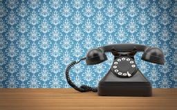 Roterande telefon för tappning stock illustrationer