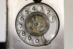 Roterande telefon på slagskeppet Wisconsin Royaltyfria Foton