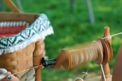 roterande traditionellt garn Royaltyfri Foto