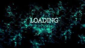 Roterend digitaal netwerk met 'Ladings 'tekst vector illustratie