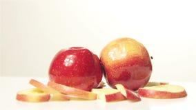 Roterend Rood Apple - boven stock videobeelden