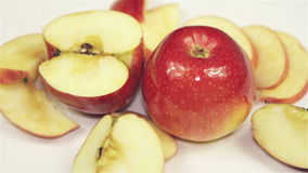 Roterend Rood Apple - boven stock video