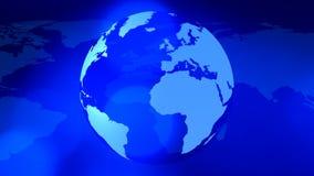 Roterende aarde en wereldkaart globale bedrijfsachtergrond stock video