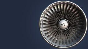Roterende bladen van turbine, loopable motieachtergrond stock video