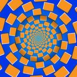 Roterende Blokken, Optische illusie, Vectorillustratiepatroon Stock Afbeelding