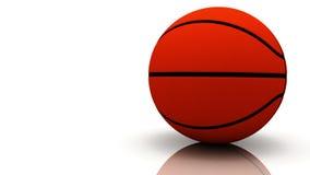 Roterende die basketbalbal op witte HD-video wordt geïsoleerd (lijn) vector illustratie